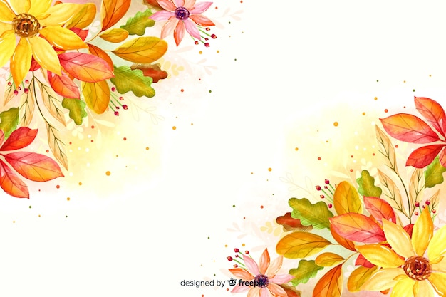 Aquarelle automne feuilles fond