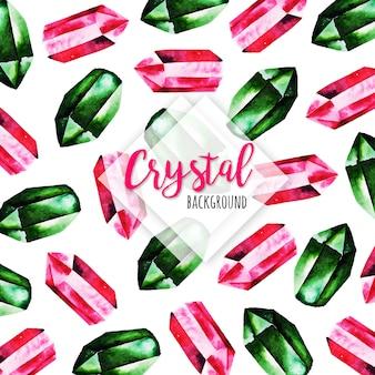 Aquarelle beau fond de cristal