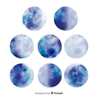 Aquarelle belle collection de pleine lune
