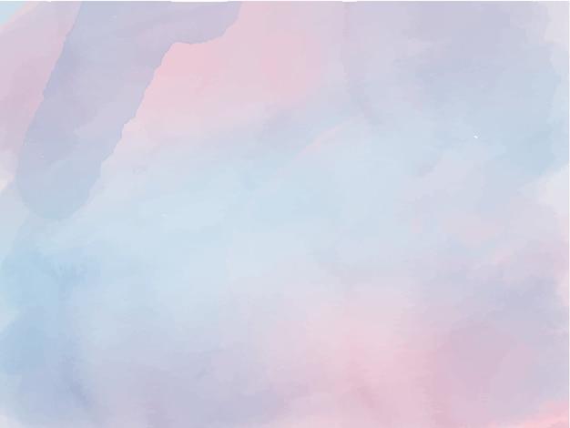 Aquarelle bleu et rose ombre abstrait