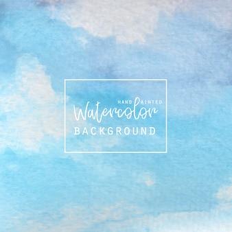Aquarelle bleue et blanche abstraite