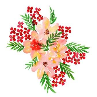 Aquarelle bouquet floral