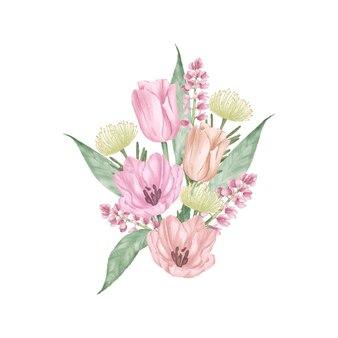 Aquarelle de bouquet floral
