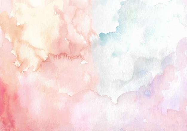 Aquarelle brossage de couleurs mélangées