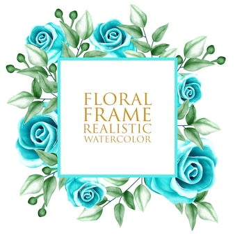 Aquarelle de cadre floral