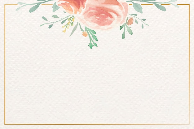Aquarelle cadre rose