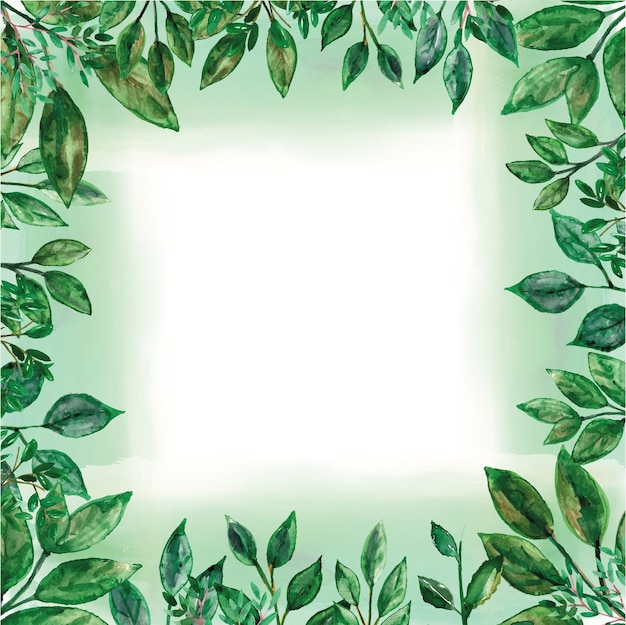 Aquarelle de cadre de verdure