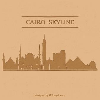 Aquarelle cairo skyline avec un style élégant