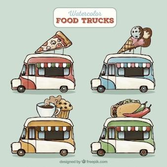 Aquarelle camions de nourriture collection