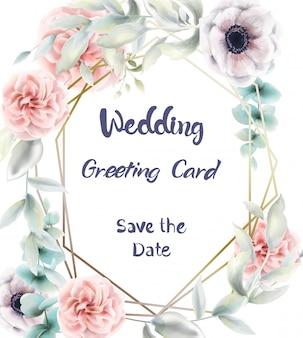 Aquarelle de carte floral roses roses. affiche rustique de provence. mariage, invitation d'anniversaire, cérémonie déco