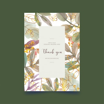 Aquarelle carte postale florale