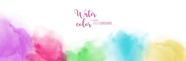 Aquarelle colorée abstraite peinte à la main pour le fond.
