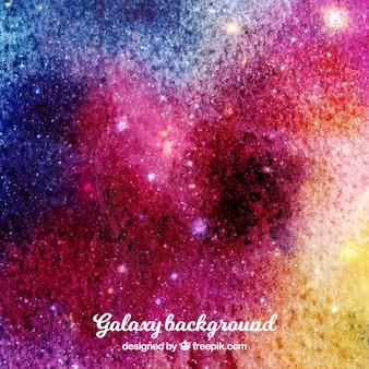Aquarelle colorée avec des étoiles