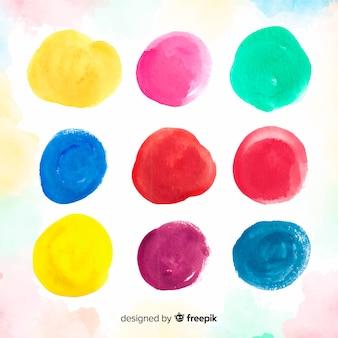 Aquarelle colorée fond de taches