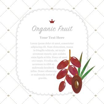 Aquarelle colorée texture nature bio fruit memo frame date fruit