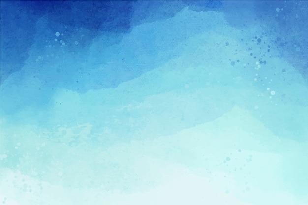 Aquarelle copie espace fond dégradé bleu