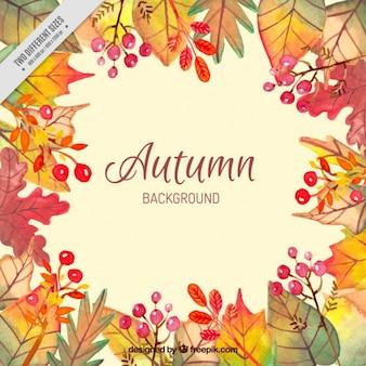 Aquarelle décoratif feuilles fond