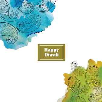 Aquarelle diwali background