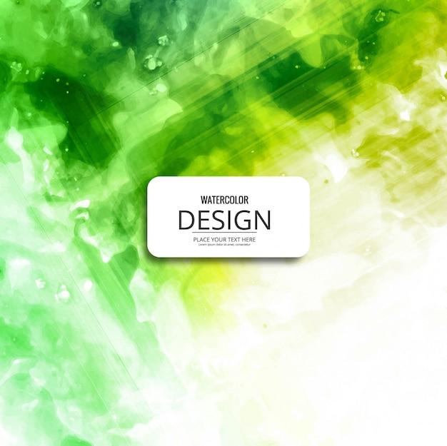 Aquarelle douce aux couleurs vertes