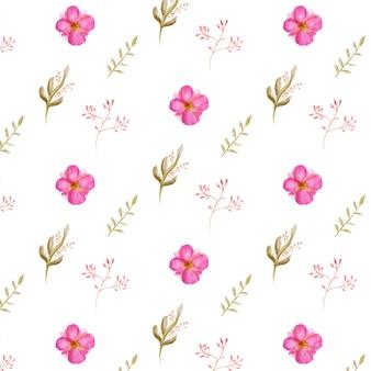 Aquarelle ensemble floral belle