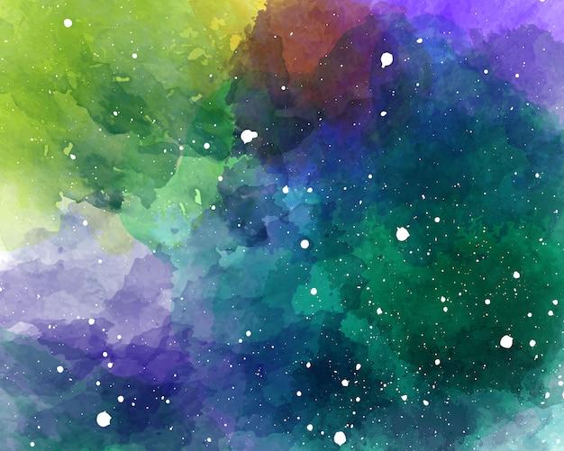 Aquarelle espace ciel étoilé texture aquarelle