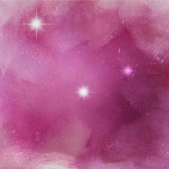 Aquarelle. étoiles dessinées à la main.
