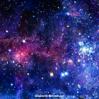 Aquarelle avec des étoiles