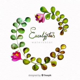 Aquarelle eucalyptus feuilles fond
