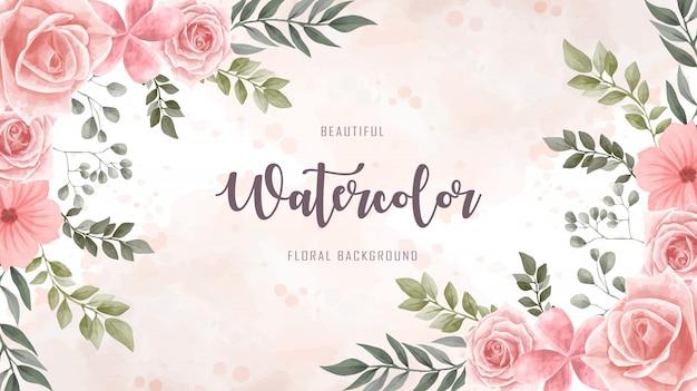 Aquarelle fleur fond floral