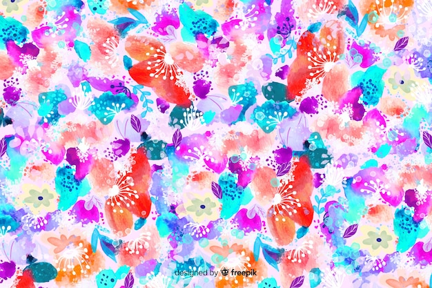Aquarelle floral abstrait