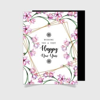 Aquarelle floral cartes de souhaits