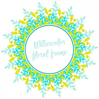 Aquarelle floral frame