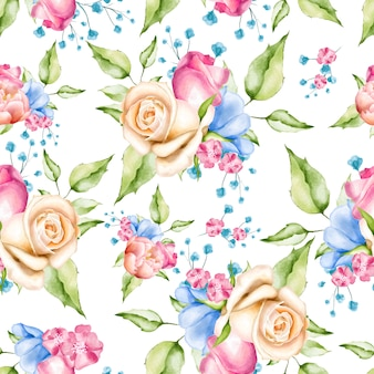 Aquarelle floral modèle sans couture