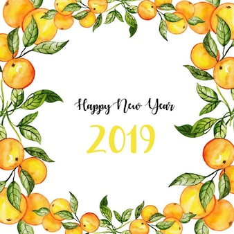 Aquarelle floral newyear background