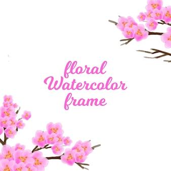 Aquarelle floral ornement
