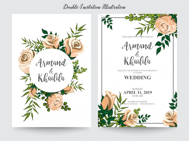Aquarelle floral pour illustration design invitation