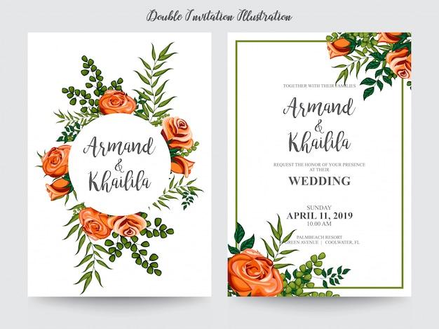 Aquarelle floral pour illustration design invitation