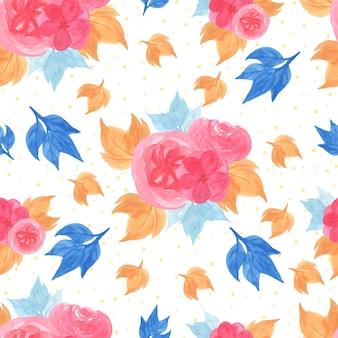 Aquarelle floral seamless pattern