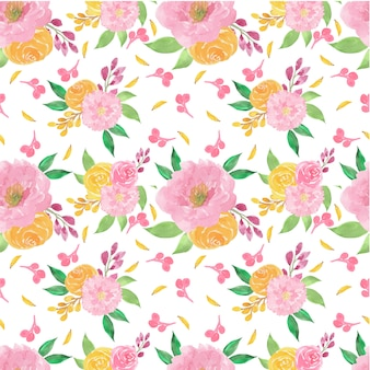 Aquarelle floral seamless pattern