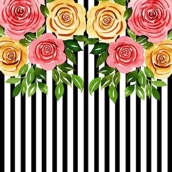 Aquarelle floral strip cards