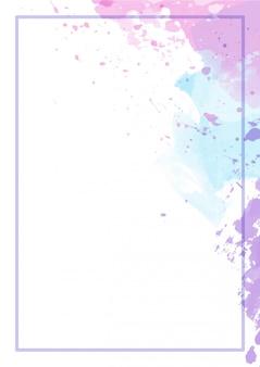 Aquarelle de fond abstrait splash mignon