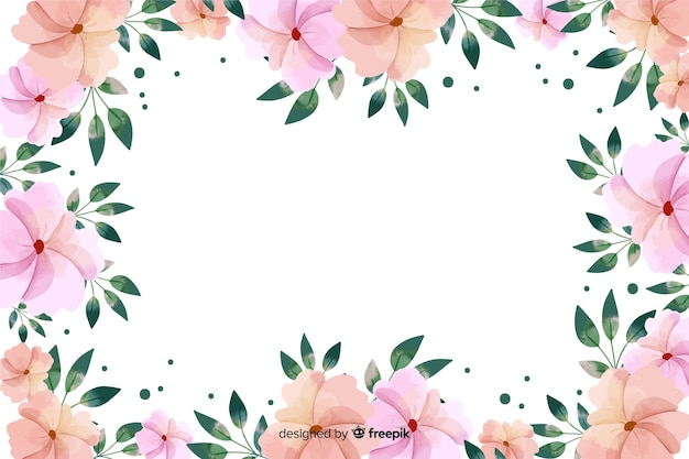 Aquarelle de fond de cadre botanique