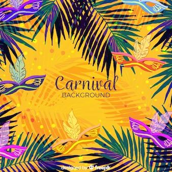 Aquarelle fond de carnaval brésilien