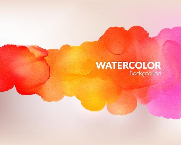 Aquarelle fond coloré
