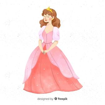 Aquarelle fond de dessin princesse