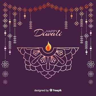 Aquarelle fond de diwali