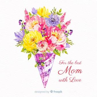 Aquarelle fond de fête des mères