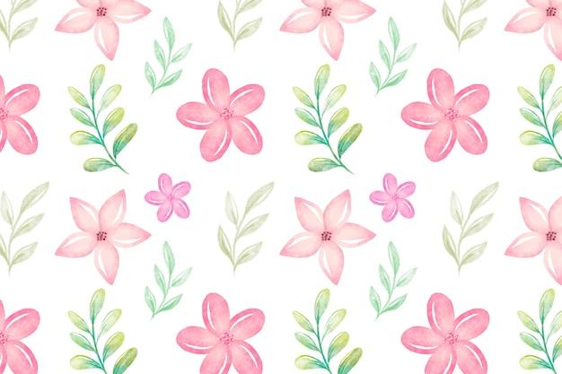 Aquarelle fond floral avec des couleurs douces