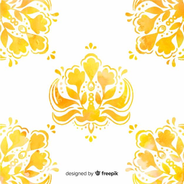 Aquarelle fond floral ornemental