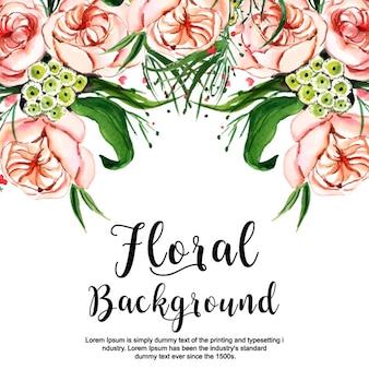 Aquarelle fond floral